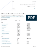 222 Excel keyboard shortcuts for PC and Mac | Exceljet