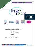 Startegic Management Analysis of Engro Foods