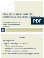 Improving HSE in High Risk Industries