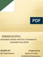 HPLC, ppt | Chromatography | High Performance Liquid