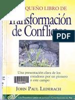 Transformación de Conflictos. Lederach