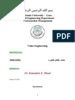 Value Engineering