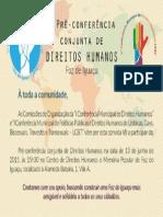 Conferência Direitos Humanos Foz Do Iguaçu