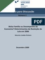 Bolsa Familia Ou Desempenho Da Economia IPEA