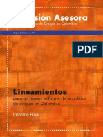Informe Final Comision Asesora Politica Drogas Colombia