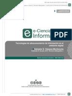 Tecnologías de Almacenamiento de Información en el ambiente digital