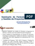 Formulación y Gestion de Proyectos