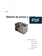 Batería de Plomo y Acido