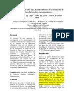 Diseño de almacén de datos para el análisis  eficiente  de  la información