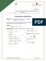 Ecuaciones Logaritmicas 2013-i
