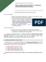 Orientaciones Hora de Lectura. Plan Lector curso 2015-16