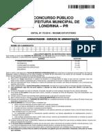 Prova-742-245 Administrador Prefeitura de Londrina