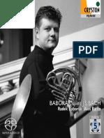 BACH, J.S.- Chorale Arrangements for Horn and Organ (Baborák spielt J.S. Bach)