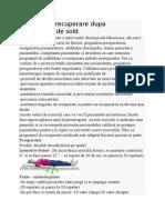 Protocol de Recuperare Dupa Artroplastia de Sold