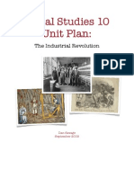 Dan Savage - Social 10 Unit Plan - Industrial Revolution