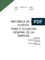 Ecuación General de La Energia