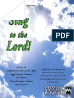 Choral Concert- Mansfield University Concert Choir - BACH, J.S.