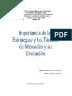 Importancia de Las Estrategias y Las Tácticas de Mercadeo y Su Evolución
