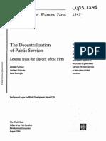 Descentralização Dos Serviços Públicos