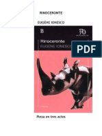 Eugene Ionesco El Rinoceronte