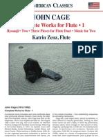 CAGE, J.- Flute Works (Complete), Vol. 1 (Zenz)