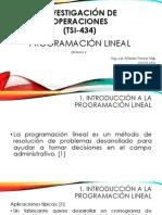 2.1 Programación Lineal
