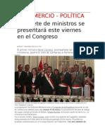 Gabinete de Ministros EN El Congreso