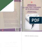 Paula Carlino Escribir Leer y Aprender en La Universidad PDF