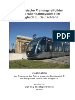 Französische Planungsleitbilder für Straßenbahnsysteme im Vergleich zu Deutschland