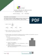 Matemática 7