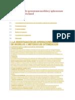 Investigación de Operaciones Modelos y Aplicaciones de Programación Lineal
