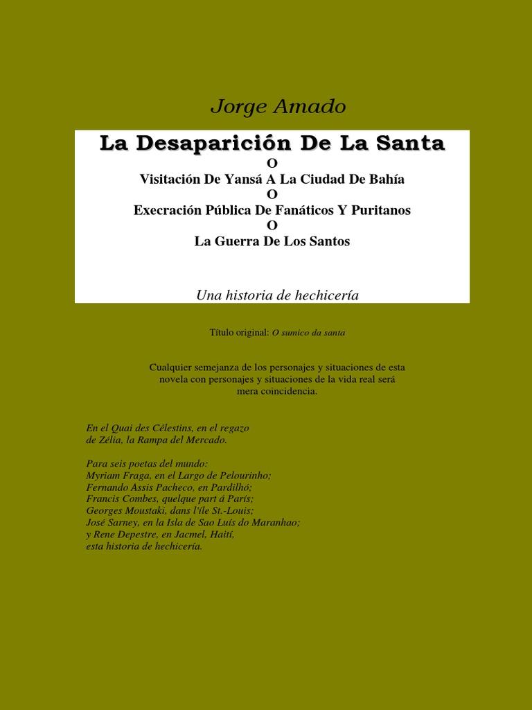 Amado, Jorge - La Desaparicion de La Santa