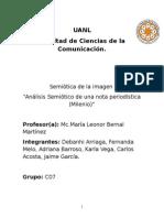 Analisis Semiotico Del Periodico