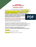 Anestesicos Generales y Locales
