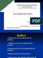 Psm Diseño de Plantas Localizacion