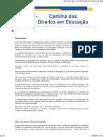 Cartilha Dos Direitos Em Educação