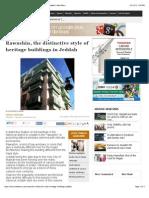 Rawashin-distinctive Style of Heritage Buildings in Jeddah