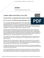 Catholic Jubilees Date Back to 1300