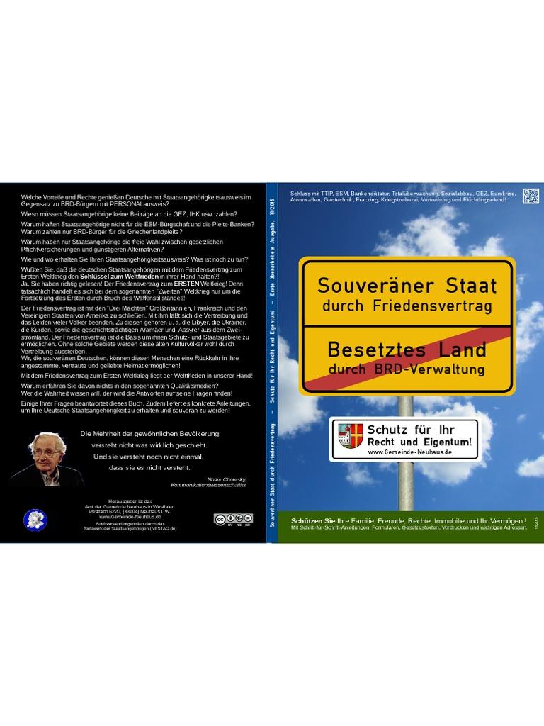 Souveräner Staat Durch Friedensvertrag