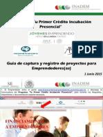 Guía Captura Proyectos Programa Tu Primer Crédito Incub Presencial