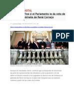 Se Define Si El Parlamento Le Da Voto de Confianza a Gabinete de René Cornejo