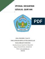 Proposal Nuzulul Qur'An