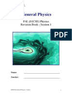 Section 1 - General Physics