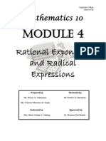 MATH 10 Module 4 (Rational Exponents and Radical Expressions)