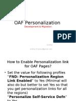 OAF Personalizations