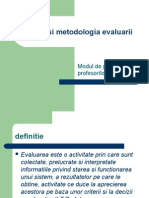 Teoria Si Metodologia Evaluarii Autor Conf Univ Dr Irina Maciuc