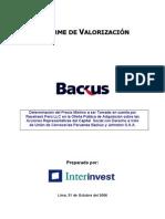 Valor de Una Firma Backus