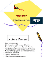TOPIC 4 (Operational Plan)