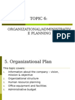 TOPIC 5 (Administrative Plan)