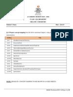 Grade XI SCIENCE - Holiday Homework & Worksheets